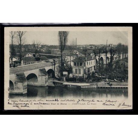 Carte postale 94 - Joinvill-le-Pont - Le tour de Marne - Voyage - Dos non divise