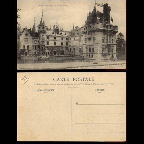 Carte postale 95 - Chateau de Vigny - Cour interieure