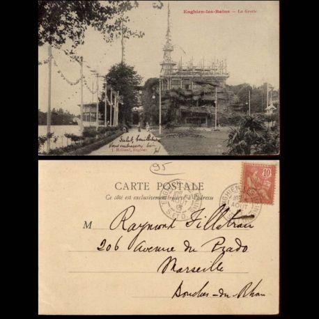 Carte postale 95 - Enghein les Bains - La grotte