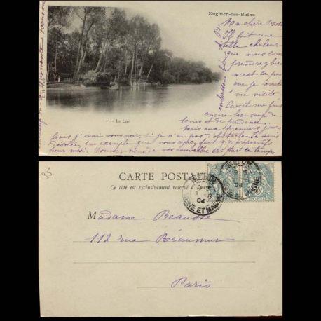 Carte postale 95 - Enghein les Bains - Le Lac