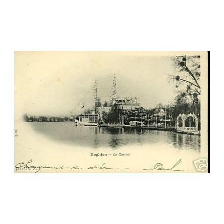 Carte postale 95 - Enghien - Le Casino et le lac