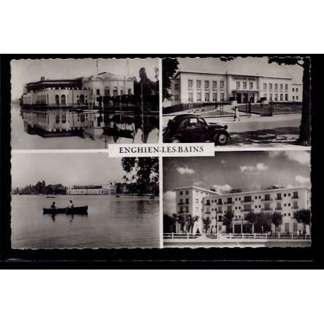 Carte postale 95 - Enghien-les-Bains - 4 vues de la ville : le casino - l' etablissement