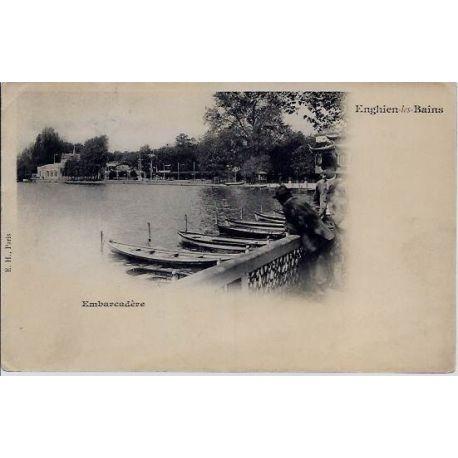 Carte postale 95 - Enghien-les-Bains - Embarcadere - Voyage - Dos non divise