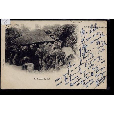 Carte postale 95 - Enghien-les-Bains - La Source du Roi - Voyage - Dos non divise