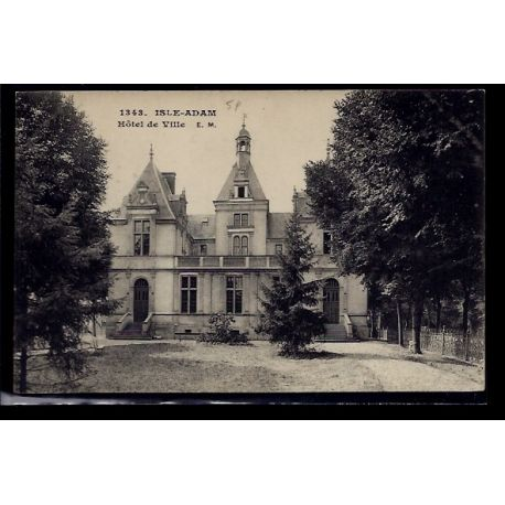 95 - L' Isle-Adam - Hotel de Ville - Non voyage - Dos divise