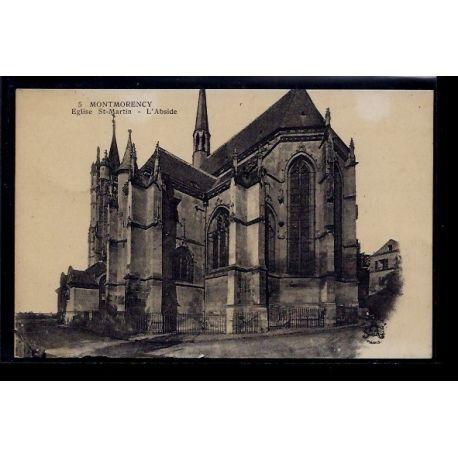 Carte postale 95 - Montmorency - Eglise St-Martin - l' Abside - Non voyage - Dos divise