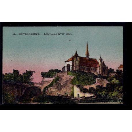 Carte postale 95 - Montmorency - L' eglise au XVIIe siecle - Non voyage - Dos divise