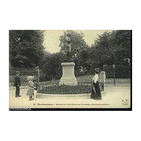 Carte postale 95 - Montmorency - Statue de J.J. Rousseau