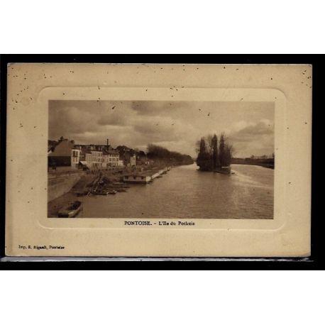 Carte postale 95 - Pontoise - L' Ile du Pothuis - Voyage - Dos divise