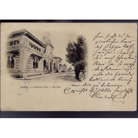 Algerie - 1899 - Biskra - L'hotel de ville - Dos non divise