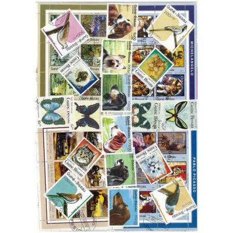 Guinea-Bissau - 100 verschiedene Briefmarken
