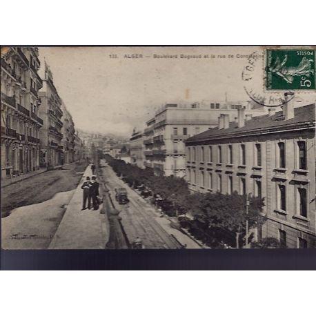 Algerie - Alger - Boulevard Bugeaud et la rue de constantine