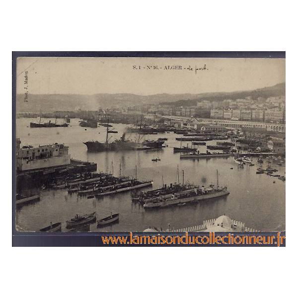 algerie alger le port bateaux 1903. Black Bedroom Furniture Sets. Home Design Ideas