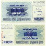 Banknoten Bosnien Pick Nummer 35 - 1000000 Dinara 1993