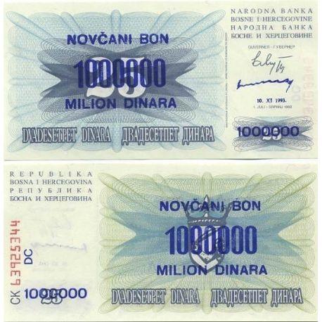 Billets de collection Billets banque Bosnie Pk N° 35 - 1000000 Dinar Billets de Bosnie 2,00 €