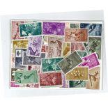 Spanische Sammlung gestempelter Briefmarken Guinea