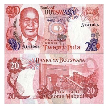 Billet de collection Botswana Pk N° 21 - 20 Pula