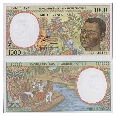 Central Africa CONGO - Pk # 102 - ticket 1000 Francs