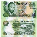 Banknoten Sammlung Botswana Pick Nummer 24 - 10 Pula 1999