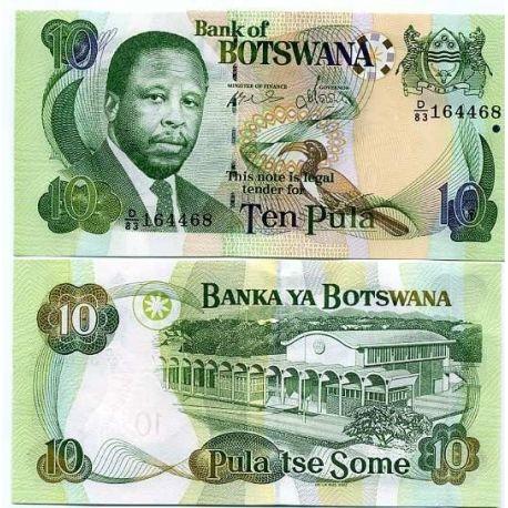 Botswana - Pk No. 24 - 10 Pula ticket