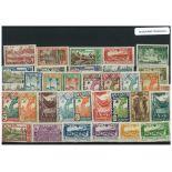 Sammlung gestempelter Briefmarken Französisch-Guayana