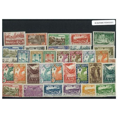 Guyane Francaise - 15 verschiedene Briefmarken