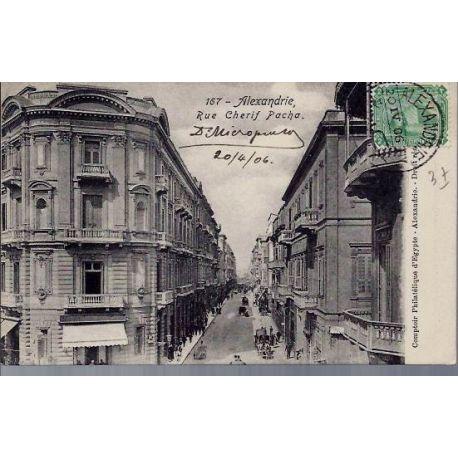 Egypte - Alexandrie - Rue Cherif Pacha