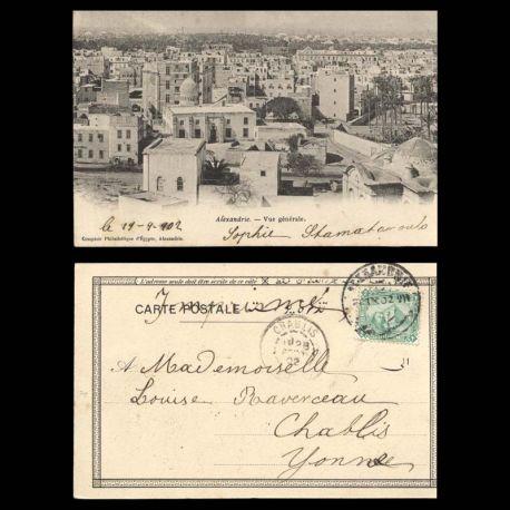 Egypte - Alexandrie - Vue generale - 1902