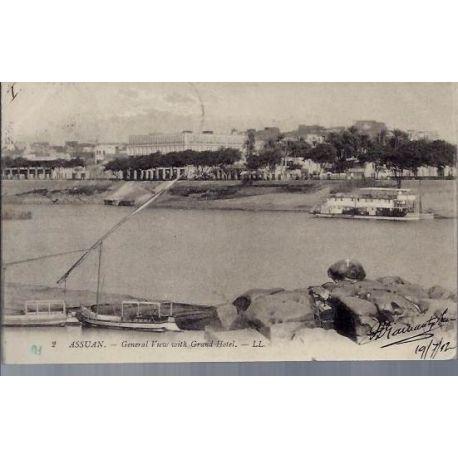 Egypte - Assouan - Vue generale et Grand Hotel
