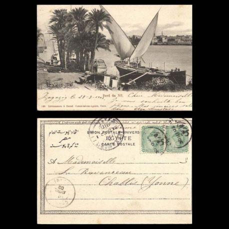 Egypte - Bateaux au bord du Nil - 1902