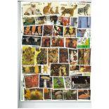 Sammlung gestempelter Briefmarken Guayana
