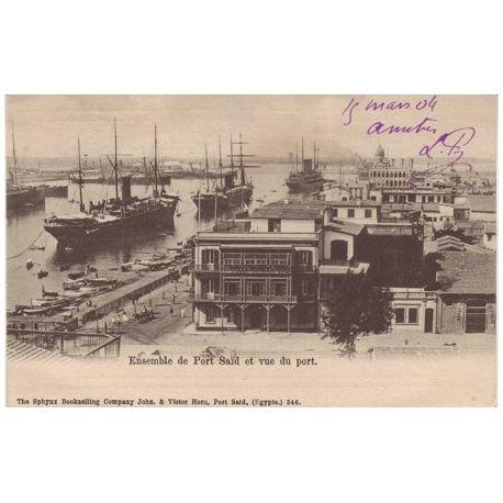 Egypte - Port Said - Vue du port