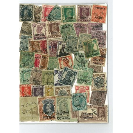 Gwalior - 10 different stamps