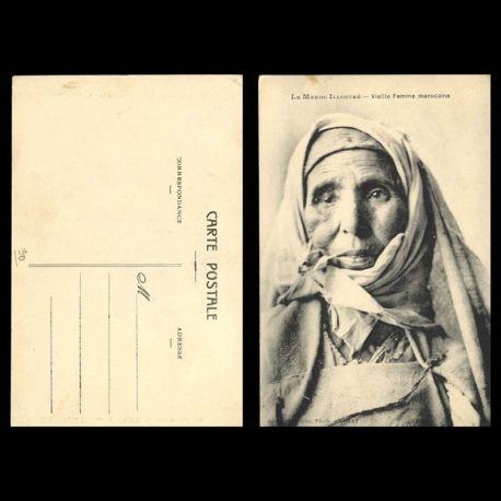Le Maroc illustre - Vieille femme marocaine