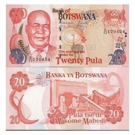 Billets de collection Billets banque Botswana Pk N° 25 - 20 Pula Billets du Botswana 16,00 €