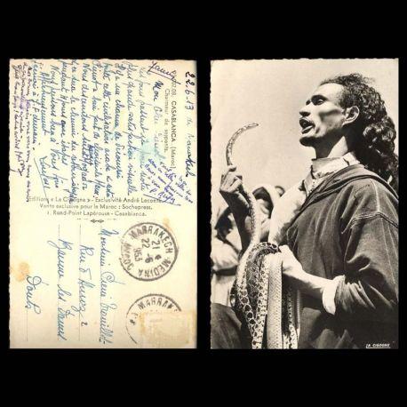 Maroc - Casablanca - Charmeur de serpents - CPSM