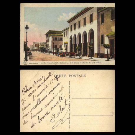 Maroc - Casablanca - Le boulevard de la liberte et le service des colis postaux