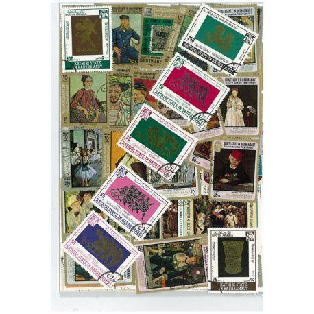 Hadramawt - 25 verschiedene Briefmarken