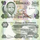 Precioso de billetes Botswana Pick número 20 - 10 Pula 1999