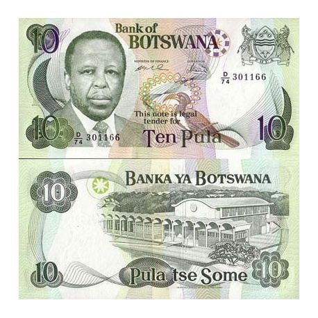 Billets collection Botswana Pk N° 20 - 10 Pula