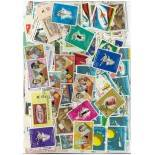 Used stamp collection Haiti