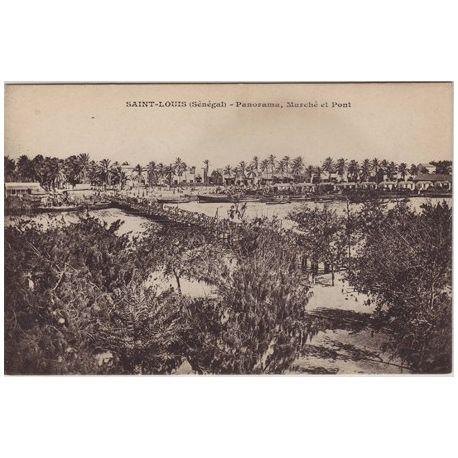 Senegal - St. Louis - Panorama,Marche et Pont