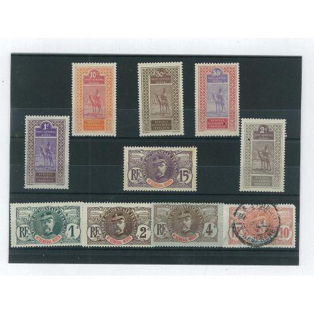 Haut Senegal Niger - 10 timbres différents