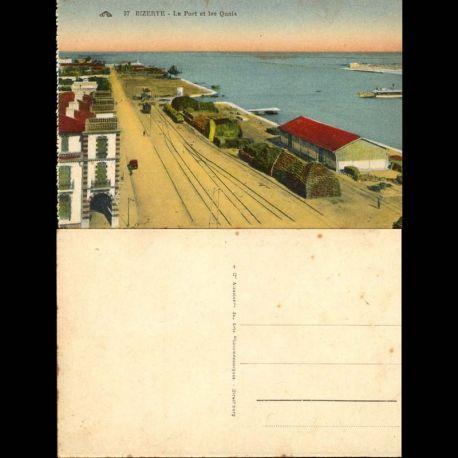 Tunisie - Bizerte - Le port et les quais