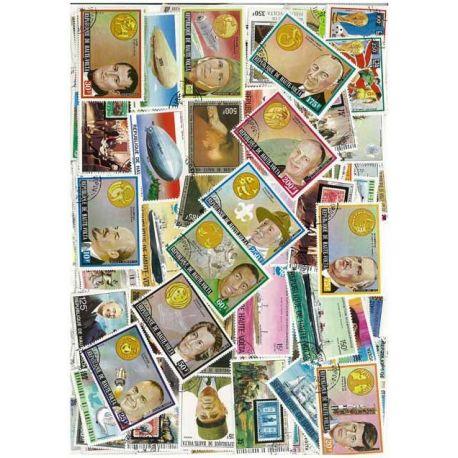 Haute Volta - 50 timbres différents