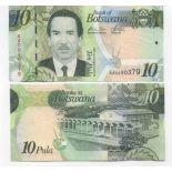Colección de billetes Botswana Pick número 30 - 10 Pula 2009