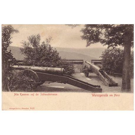 Allemagne - Alte Kanonen auf der Schlossterrasse - Wernigerode am. Harz