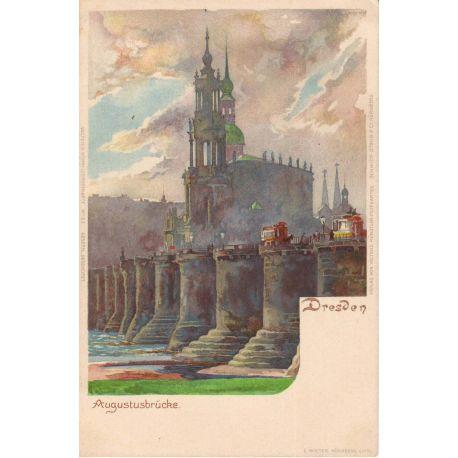 Allemagne - Augustusbrucke Dresden