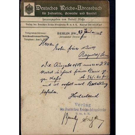 Allemagne - Berlin - Deutsches Reichs-Adressbuch fur Industrie Gewerbe und Handel