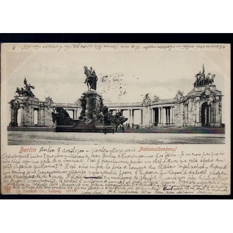 Allemagne - Berlin - Nationaldenkmal - 1900